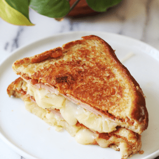 Hawaiian Style Pineapple & Ham Grilled Cheese Recipe