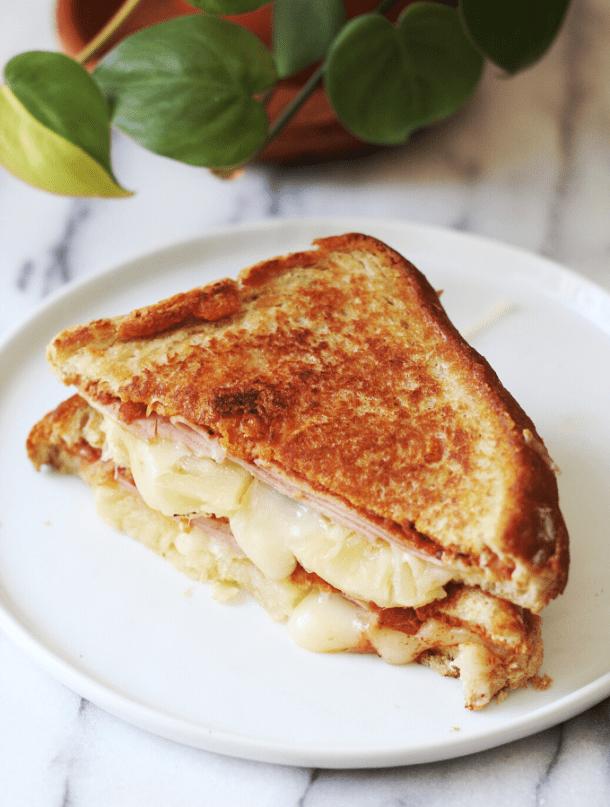 Hawaiian Style Pineapple & Ham Grilled Cheese Recipe