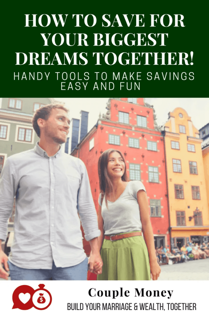 Do you two have several dreams you want to achieve, but can't agree on which ones totackle first?  Learn how you can work together to save for and reach your biggest dreams! #marriage #money #saving #family