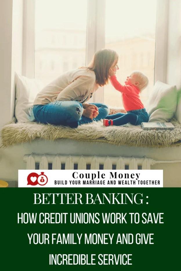 Procurando a melhor opção bancária para sua família?  Aprenda como sua cooperativa de crédito local pode economizar e fazer você ganhar mais dinheiro, ao mesmo tempo que oferece serviços incríveis aos clientes!  #family #money #creditunions #banking