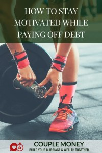 Getting out of debt can be tough on a marriage, especially if you have a massive amount. Learn 3 crucial keys to stay motivated until you knock it out! #debtfree #family