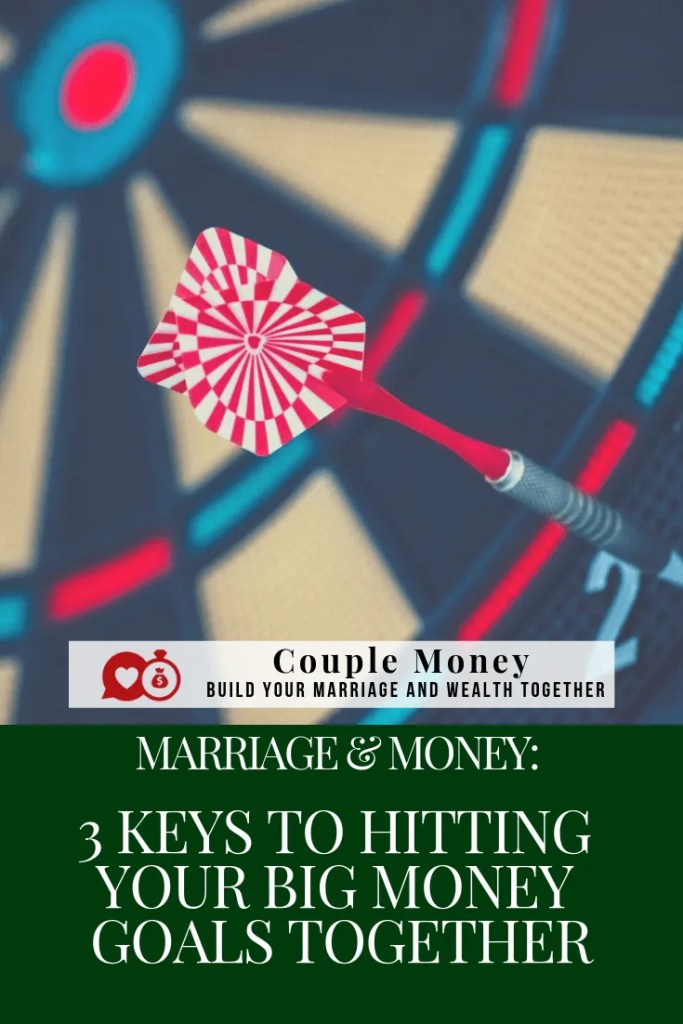 Are you guys ready to knock out a big money goal together? Here are three keys you need along with monthly challenges to reach your goals faster!  #marriage #money #family #debtfree #frugalliving