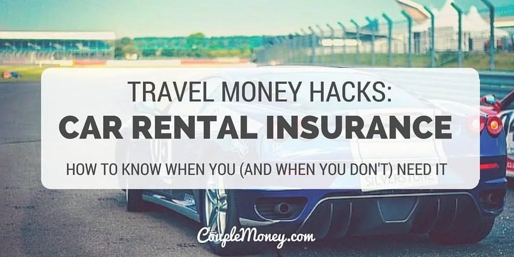 car rental insurance couple money