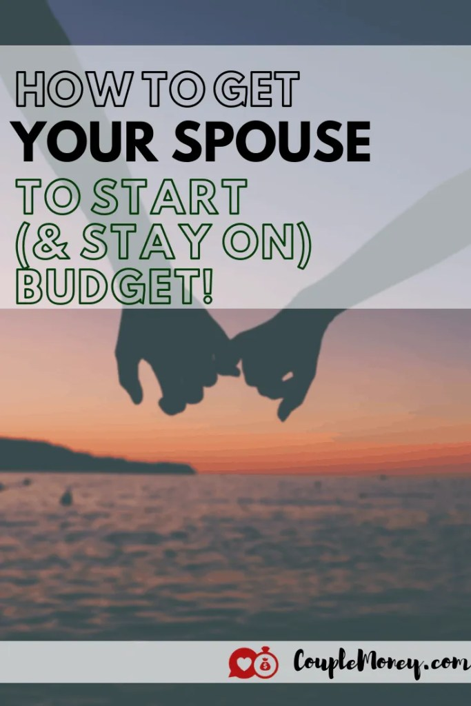 Frustrated that your spouse keeps blowing the budget? Learn four keys ways you can encourage and work with to create and stick with the budget!  #marriage #money #family #budgets