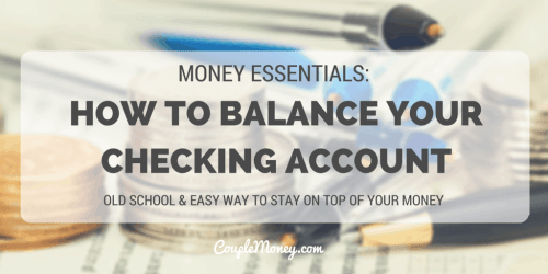 how to balance your checking account couple money (1)