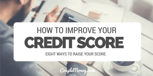 increase your credit score couple money