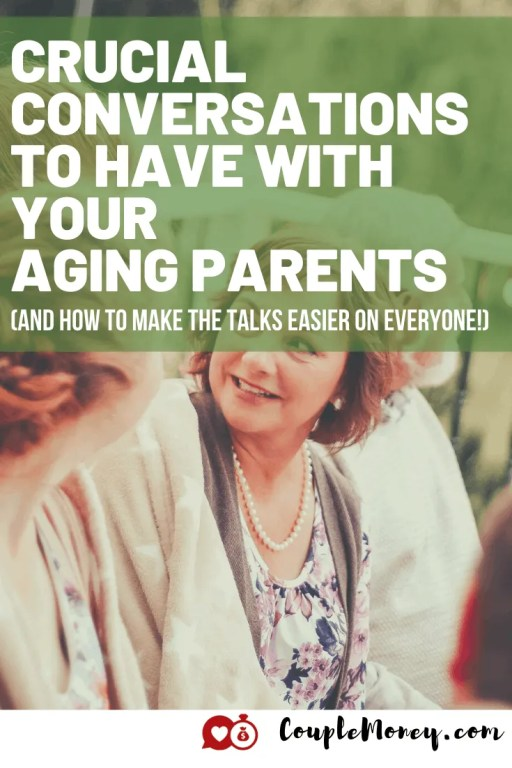 If you think talking about money with each other is hard, try talking to your parents.  Today we're getting into one of the money sensitive situations when it comes to marriage and money – making sure your parents are in a good spot during their golden years! #family #money