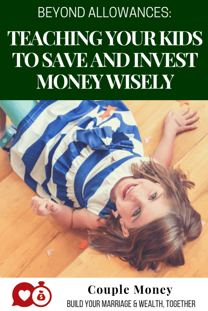 Want your kids to be money savvy?  Learn how you can teach your kids to budget, save, and invest wisely at their level- without boring them! #family #money #parenthood