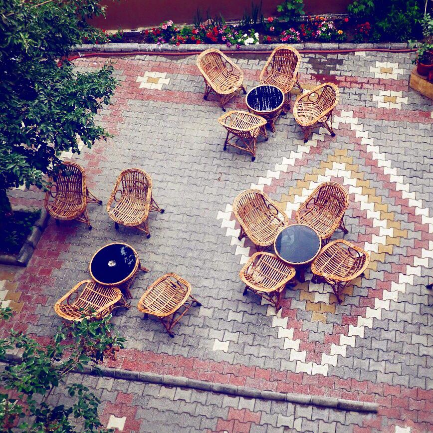 Courtyard at Hotel Auspicious