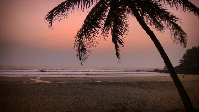 Picture-Perfect Goan Twilight (A Secluded Beach Near Cabo De Rama Fort)