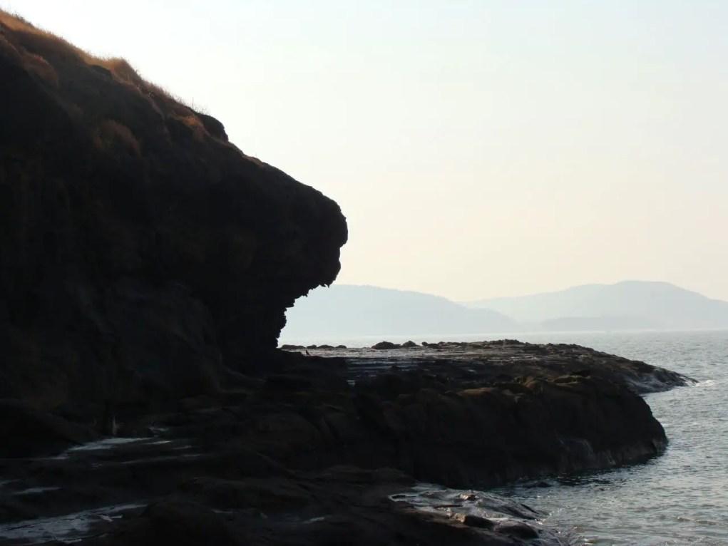 Lion-head rock at Harihareshwar beach in Konkan