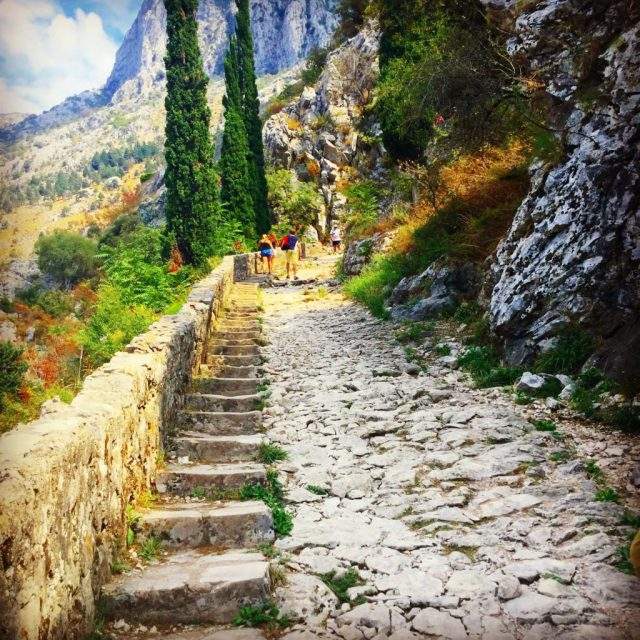 Walk to the top of Kotor Old Town