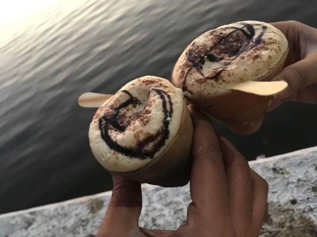 Kullad Coffee at Fatehsagar Lake