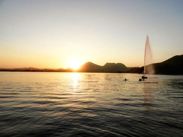 Sunset at Fatehsagar Lake