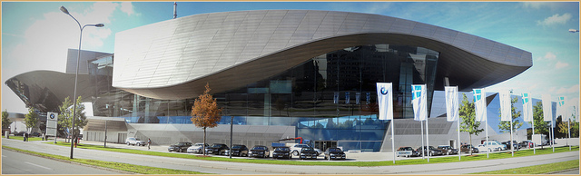 BMW Welt as seen from outside