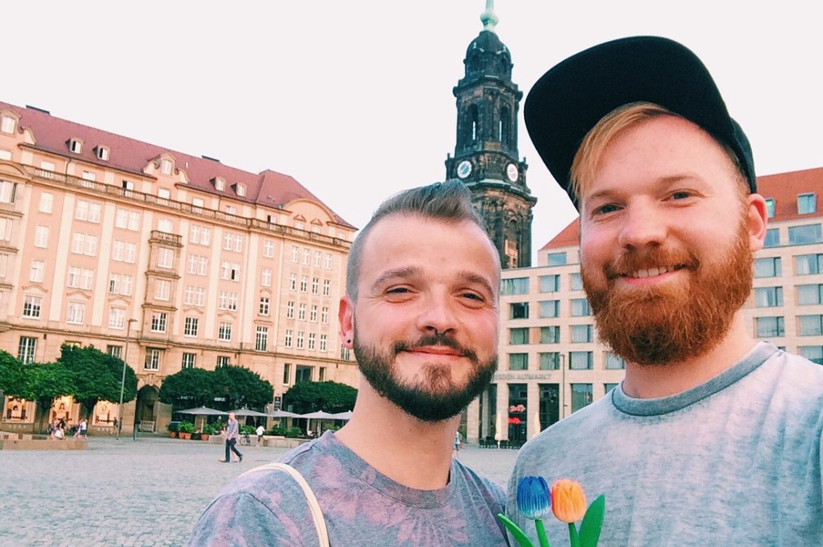 Gay Couple City Weekend Dresden Saxony © CoupleofMen.com