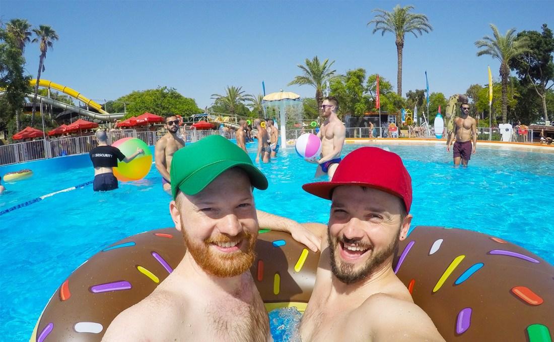 Sexy gay couple gay men Gay Pride Week Tel Aviv Israel © CoupleofMen.com