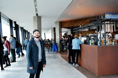 Karl at 360° indoor panorama deck | The Best Amsterdam view A'DAM LOOKOUT © CoupleofMen.com