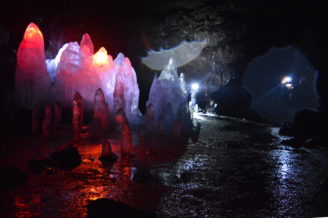 Exploring the Lava Ice Cave Lofthellir in North Iceland