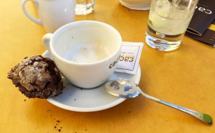 "Gay Travel Prague Coffee, Drinks cake at Café ""Cacao"" 