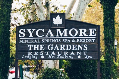 Sycamore The Mineral Springs Resort Spa San Louis Obispo Sign