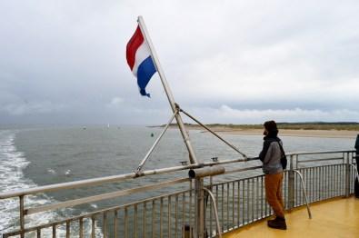 Karl on the Ferry | Dutch Island Vlieland Autumn Weekend © Coupleofmen.com