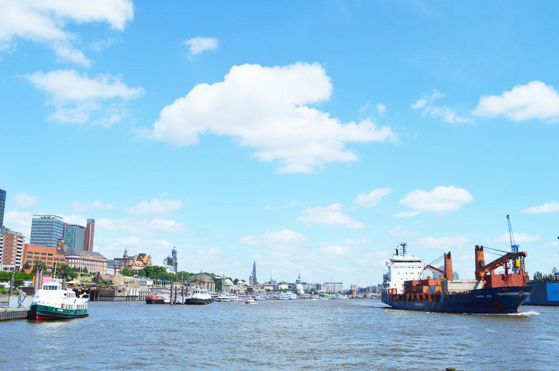 Hamburg Harbor Ships   Gay Couple City Weekend Hamburg Germany © CoupleofMen.com