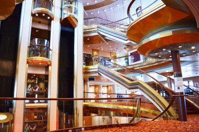 Main Hall at Cruise Ship SOVEREIGN | Gay Men Tips La Demence The Cruise © CoupleofMen.com
