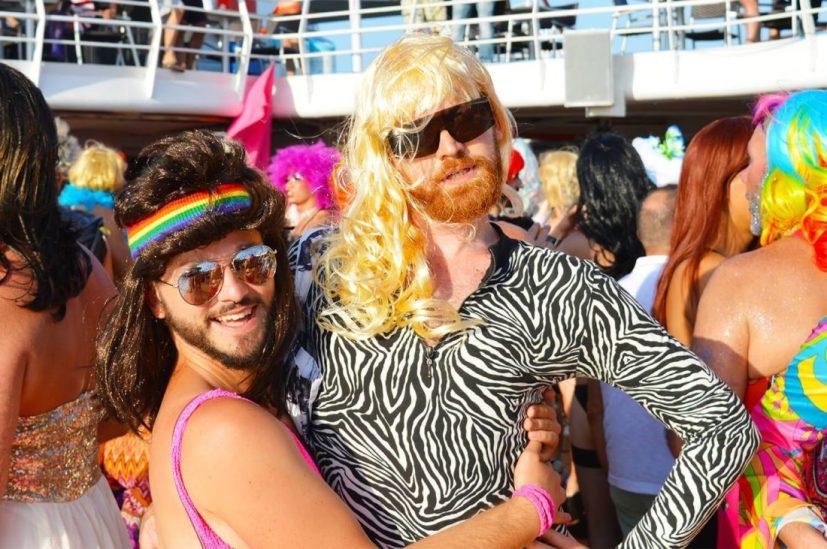 Lady's Night Party | Gay Couple Diary La Demence Cruise © CoupleofMen.com