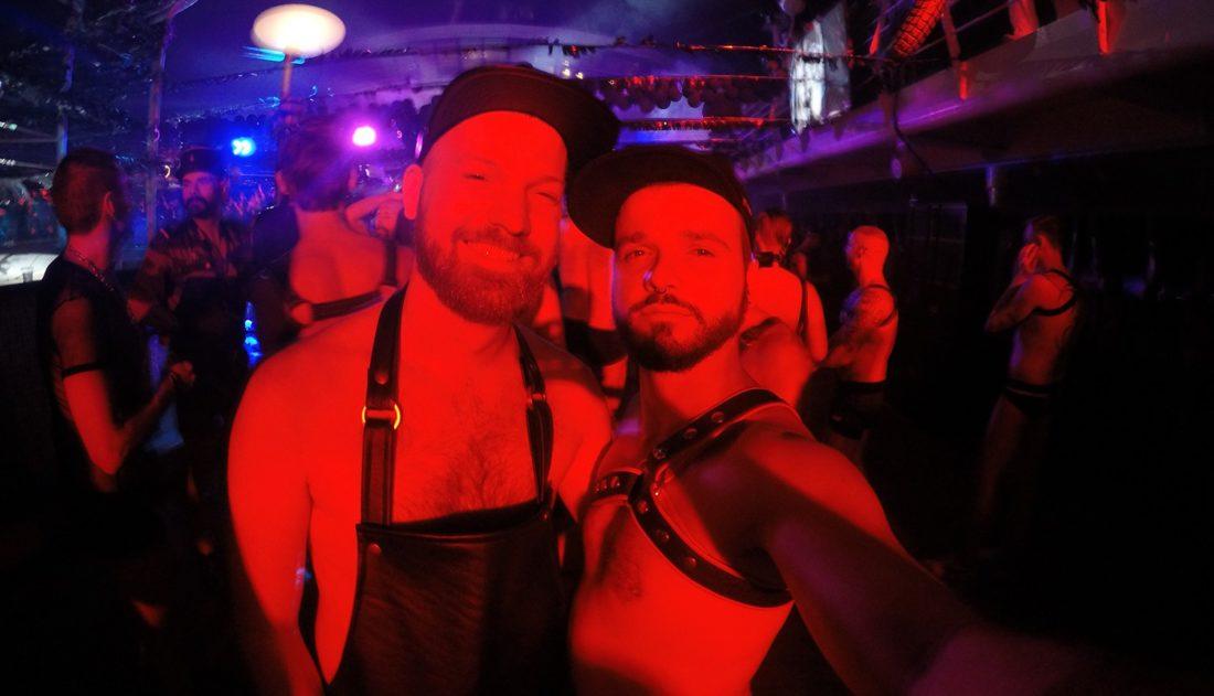 Festish Leather Party Gay Couple Diary La Demence Cruise © CoupleofMen.com