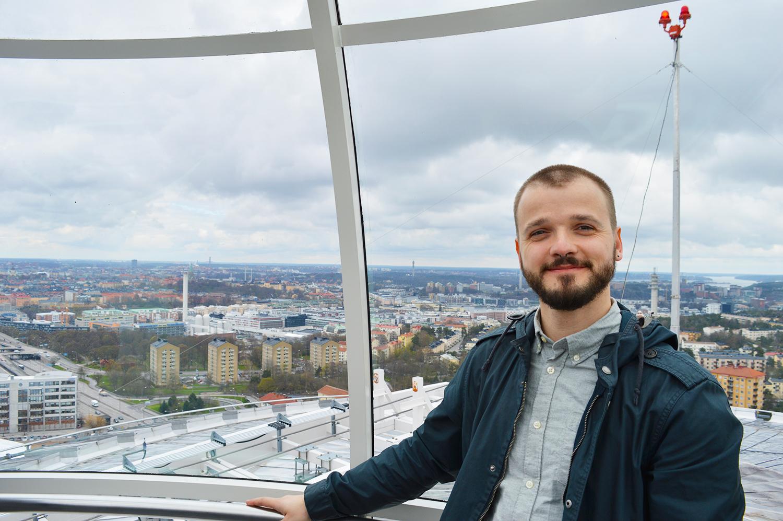View over Stockholm's Globe Arena   Gay Surprises Eurovision Song Contest Stockholm 2016 © CoupleofMen.com