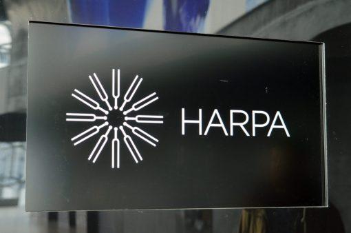 Harpa Logo | Gay Couple Travel City Weekend Reykjavik Iceland © Coupleofmen.com