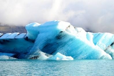 Beautiful cool blue colors of the icebergs   Zodiac Tour Glacier Lagoon Jökulsárlón © CoupleofMen.com