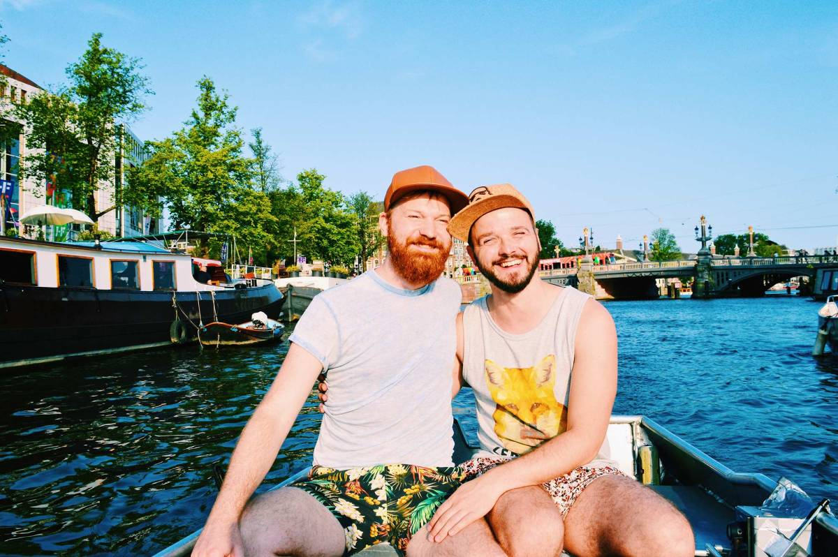 A Rental Boat Canal Tour | Gay Couple Amsterdam Activity
