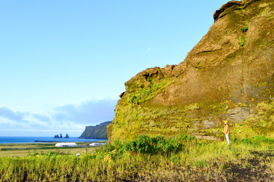 Morning view from the campsite | Gay Couple exploring South Iceland Vík Black Beach © CoupleofMen.com