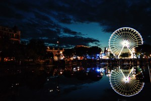 City of Nice by night in beautiful light © CoupleofMen.com