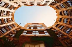 Backyard view from below   Gay Travel Guide Gaudi Architecture Casa Mila La Pedrera © Coupleofmen.com.com