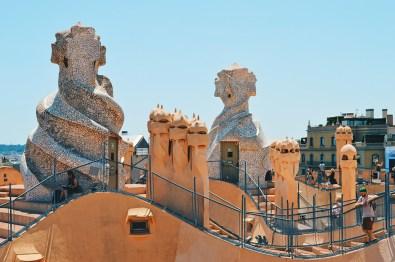 Daan on the roof top | Gay Travel Guide Gaudi Architecture Casa Mila La Pedrera © Coupleofmen.com