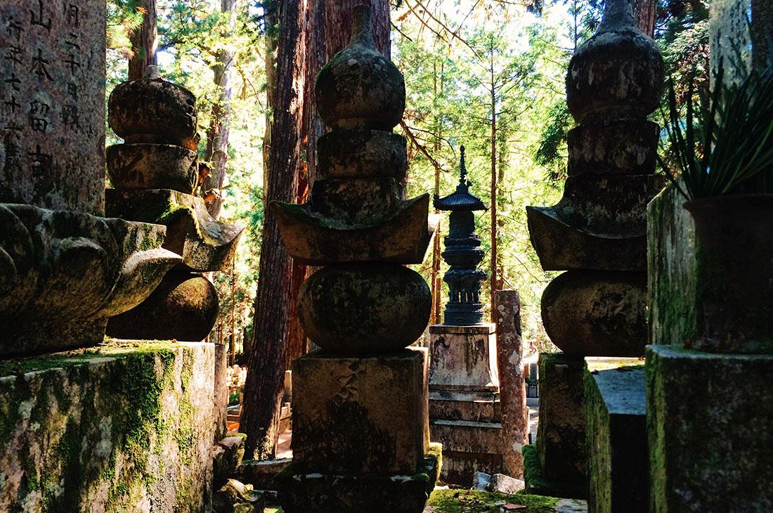 Unique spiritual atmosphere at Okunoin Cemetery in Koyasan © CoupleofMen.com