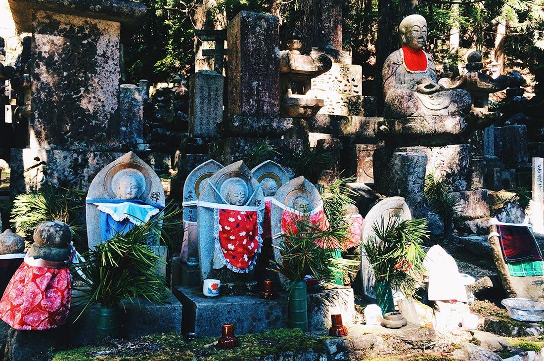 Tomb stones at Okunoin Cemetery in Koyasan © CoupleofMen.com