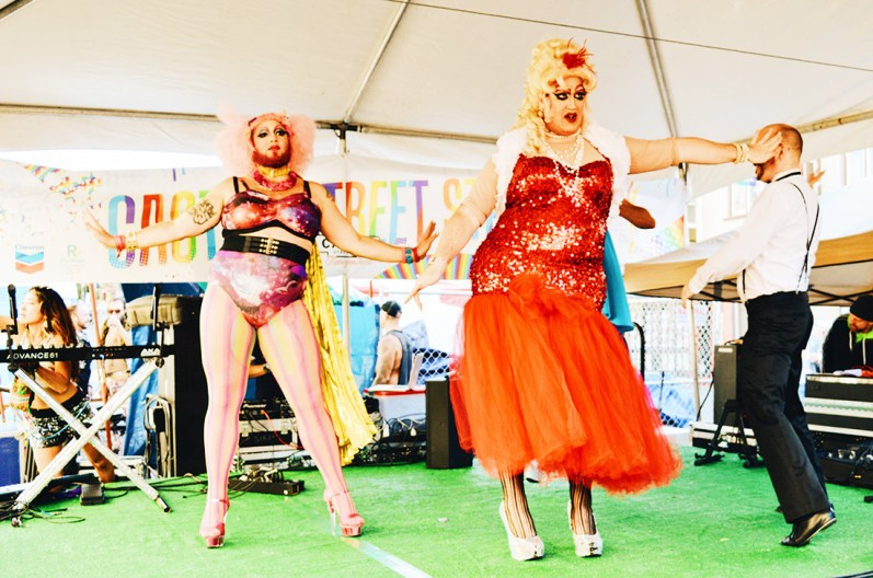 Pictures of Drag Queen performance from Castro Street Stage | Our Photo Story Castro Street Fair San Francisco © CoupleofMen.com