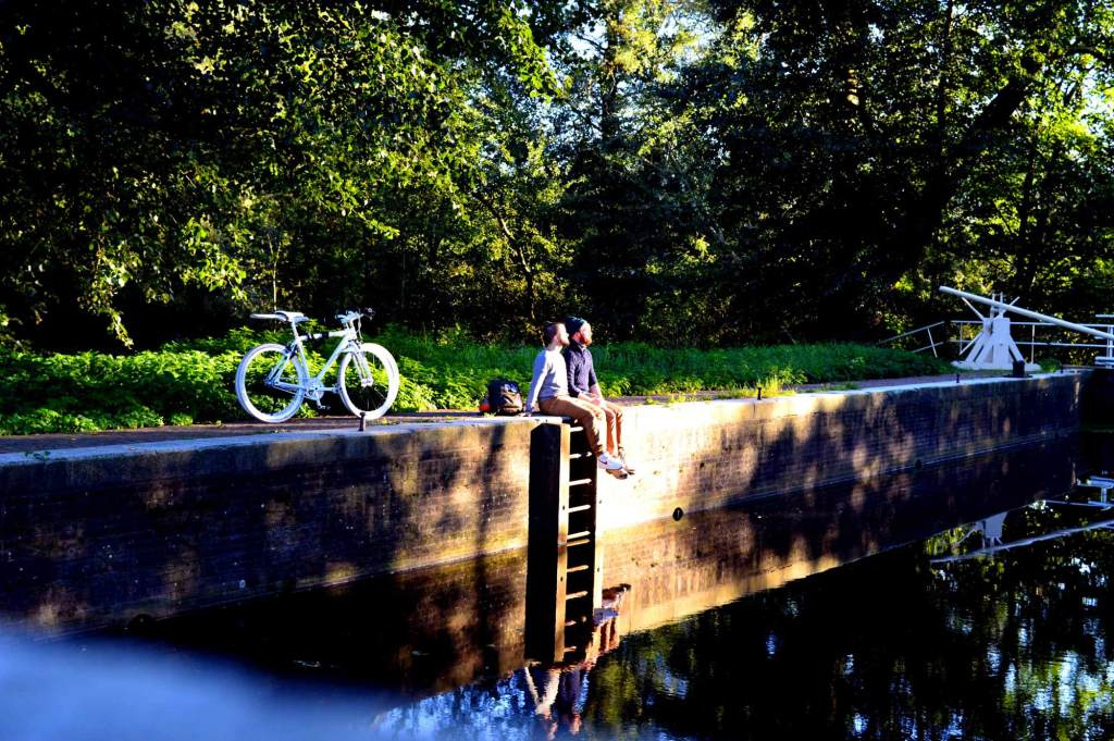 Gay Couple Biking Trips Amsterdam Forest | Gay Couple City Weekend Amsterdam Netherlands © CoupleofMen.com