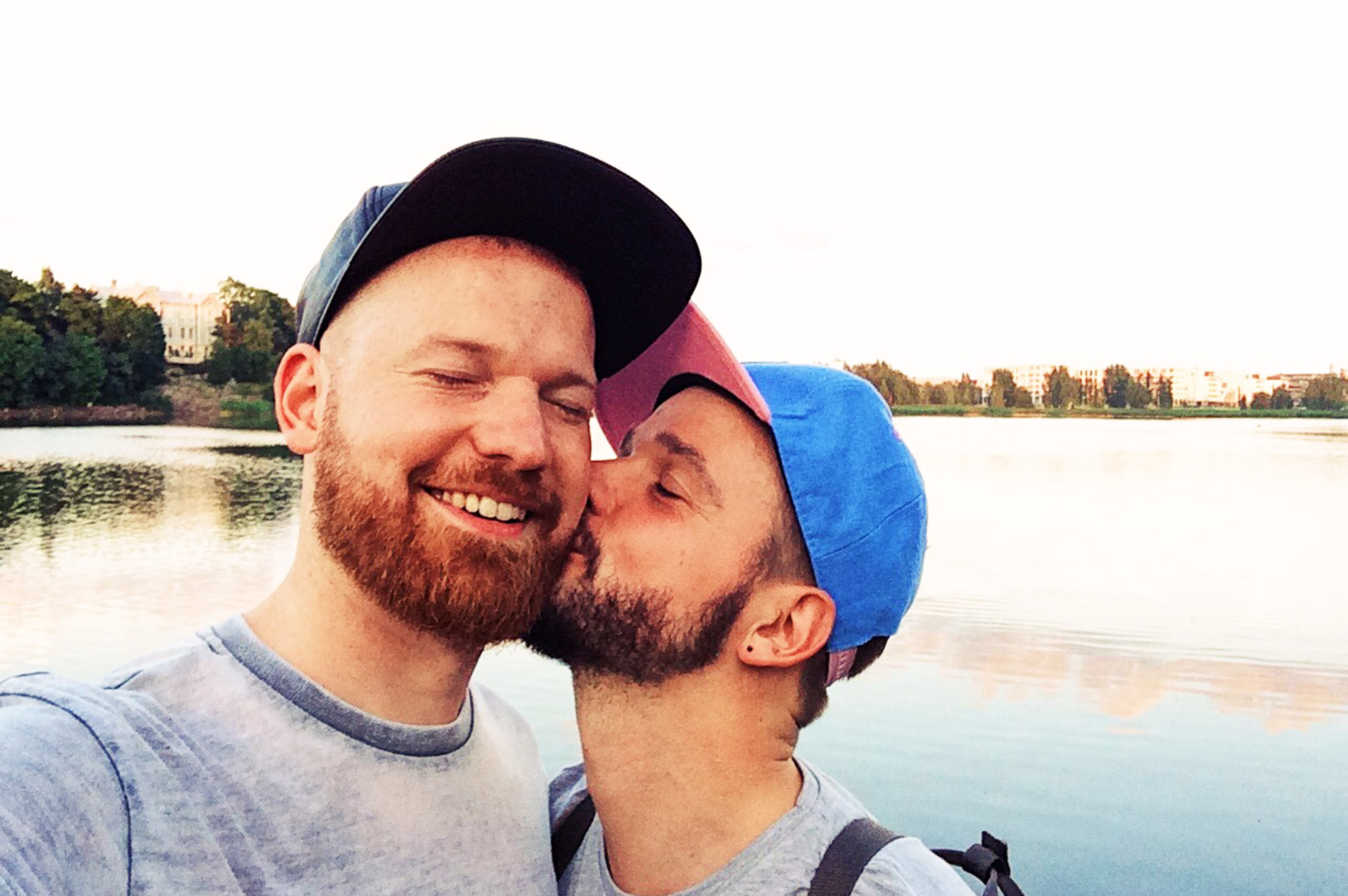 Valentine's Day Gay Kisses #lovewins © CoupleofMen.com