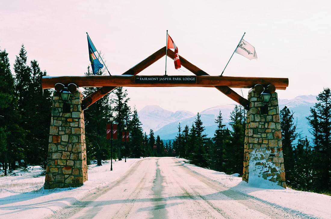 Welcome Gate Fairmont Jasper Park Lodge Alberta Canada © CoupleofMen.com