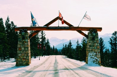 Welcome Gate Fairmont Jasper Park Lodge Alberta Canada © CoupleofMen.com