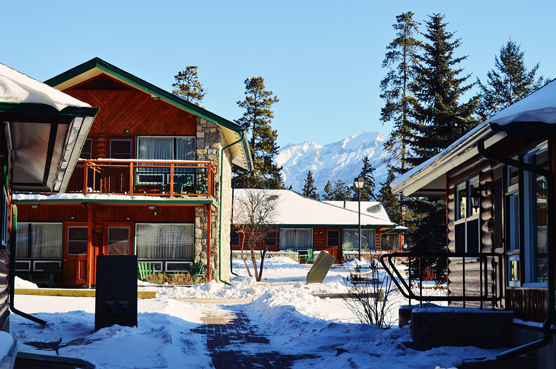 Staying with a view over the Rockies at Fairmont Jasper Park Lodge Alberta Canada © CoupleofMen.com