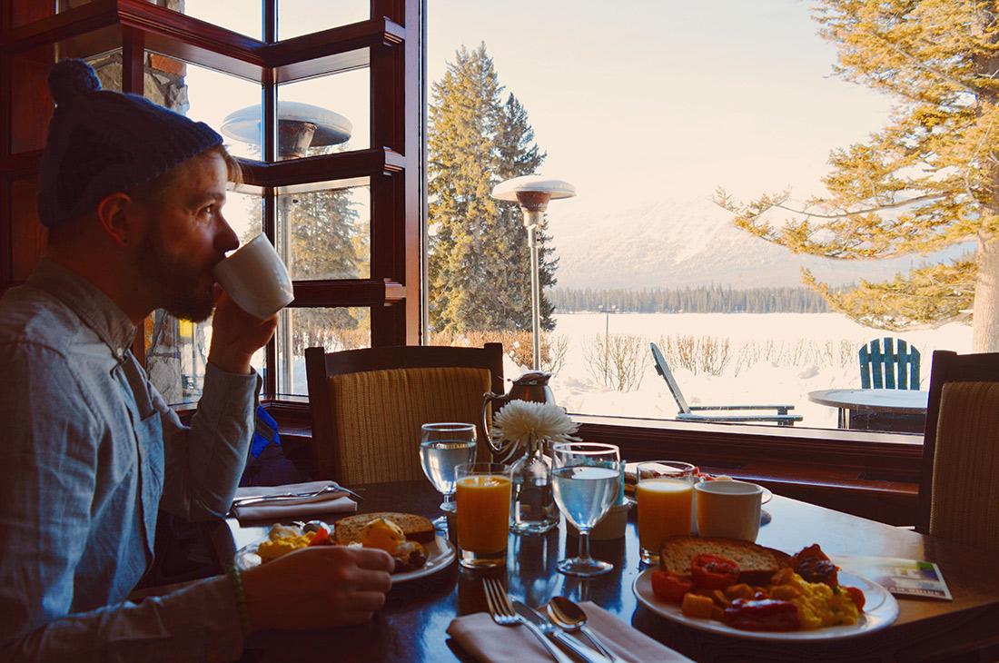 Breakfast at Fairmont Jasper Park Lodge Alberta Canada © CoupleofMen.com