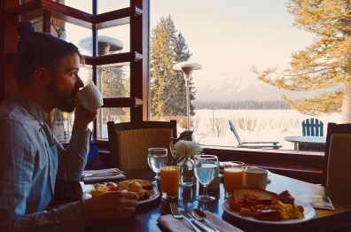Breakfast at Fairmont Jasper Park Lodge Alberta Canada © CoupleofMen.com