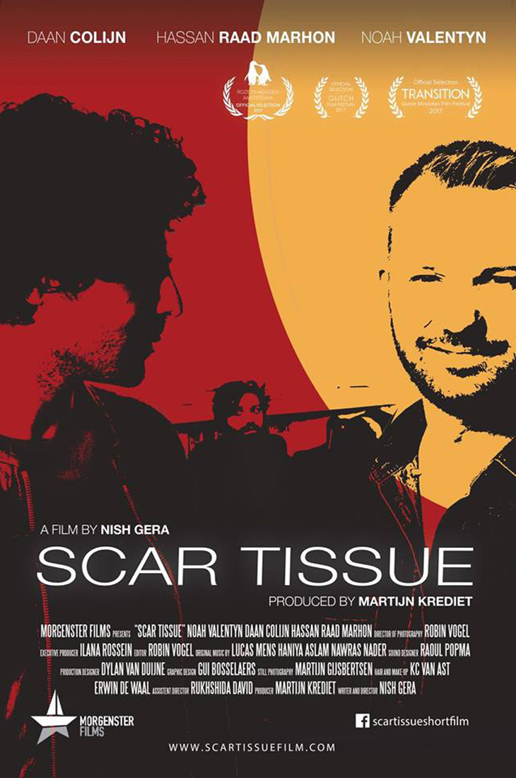 Film Poster 1 | Scar Tissue Dutch Gay Short Movie 2017 with Daan Colijn and Noah Valentyn | Morgenster Films