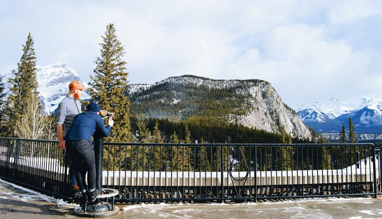 That view over the Rocky Mountains: WOW! | Fairmont Banff Springs Castle Hotel Gay-Friendly © CoupleofMen.com